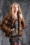 Шуба полушубок из соболя с отстежным подолом sable jacket fur coat , фото 5