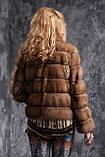 Шуба полушубок из соболя с отстежным подолом sable jacket fur coat , фото 6