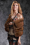 Шуба полушубок из соболя с отстежным подолом sable jacket fur coat , фото 7