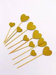 Топперы сердечки 10 штук