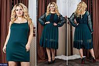 """Вечернее платье двойка большого размера """"Янита"""" от 48го по 64 размер"""