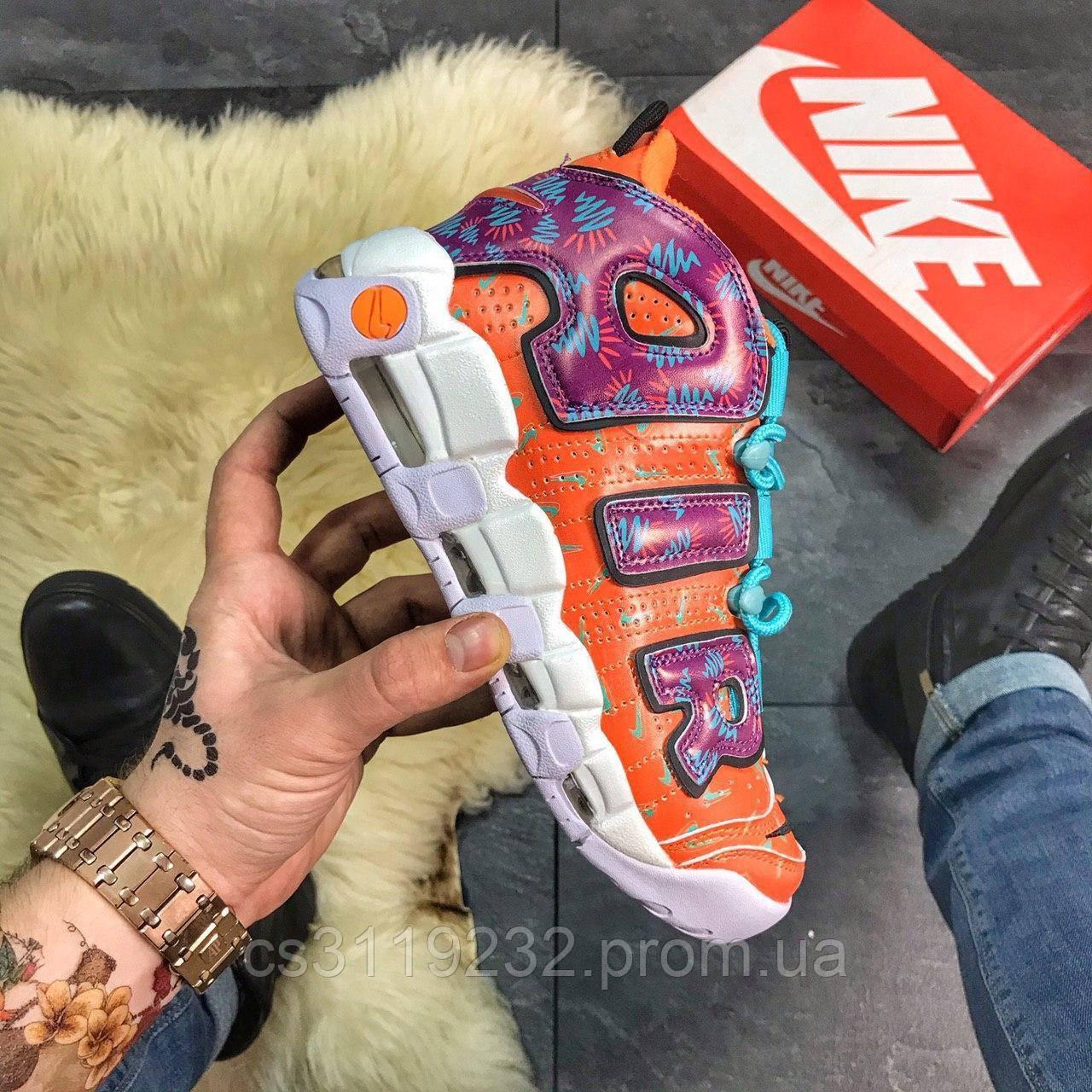 Женские кроссовки Nike Air More Uptempo (оранжевые)