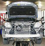 Декоративно-защитная сетка радиатора Toyota Land Cruiser Prado 150 фальшрадиаторная решетка, бампер, фото 2