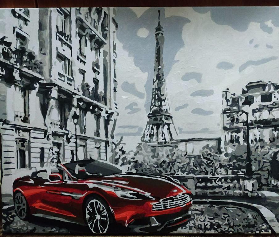Картина за номерами Парижское утро GX26761 у виконанні Марії Гордій