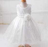 Платье белое на рост 100-110см. бальное выпускное нарядное для девочки за колено., фото 1