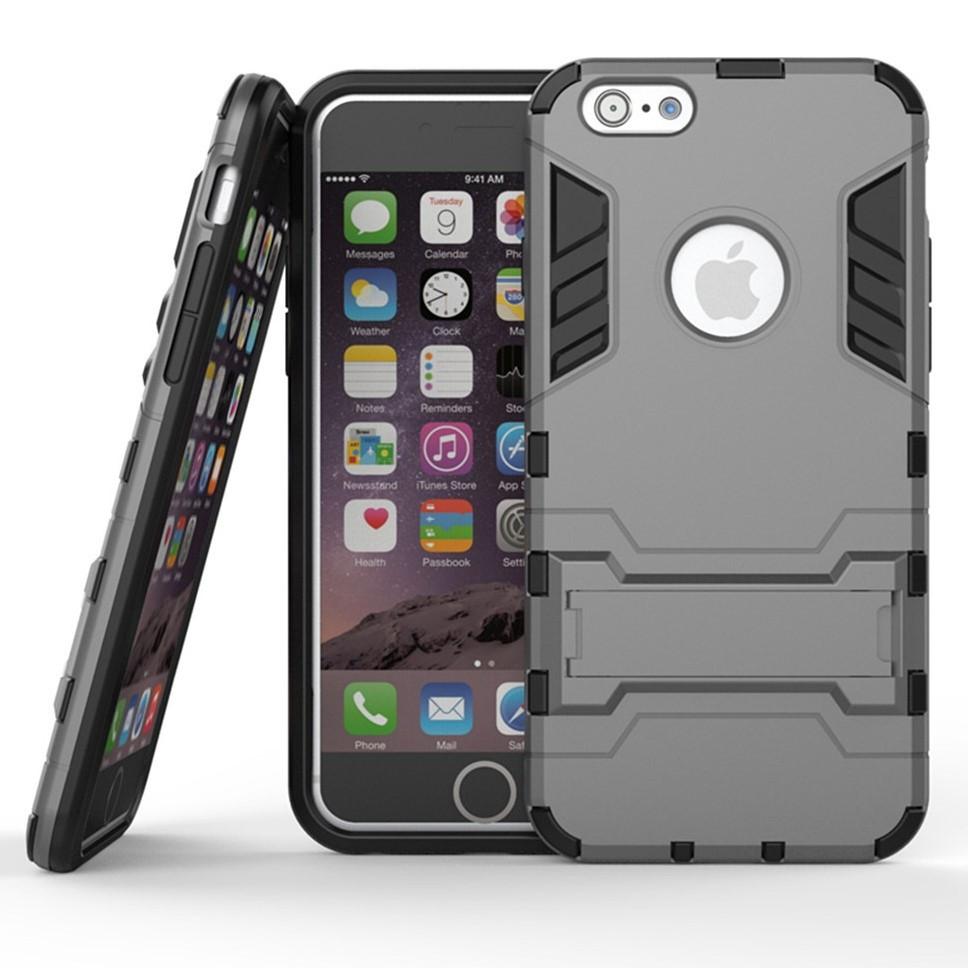 Чехол Iron для Iphone 6 / 6s бронированный бампер Броня Gray