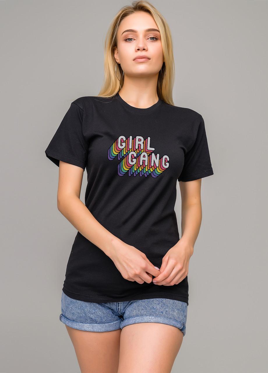 Футболка чёрная LOYS Girl gang S
