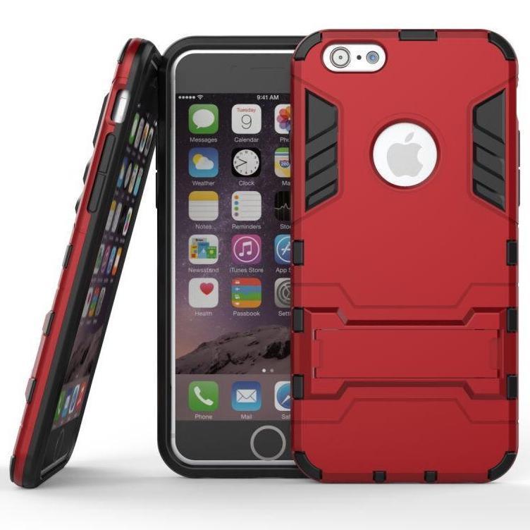 Чехол Iron для Iphone 6 / 6s бронированный бампер Броня Red