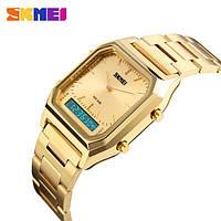 Мужские наручные часы Skmei 1220 Tango Золотые