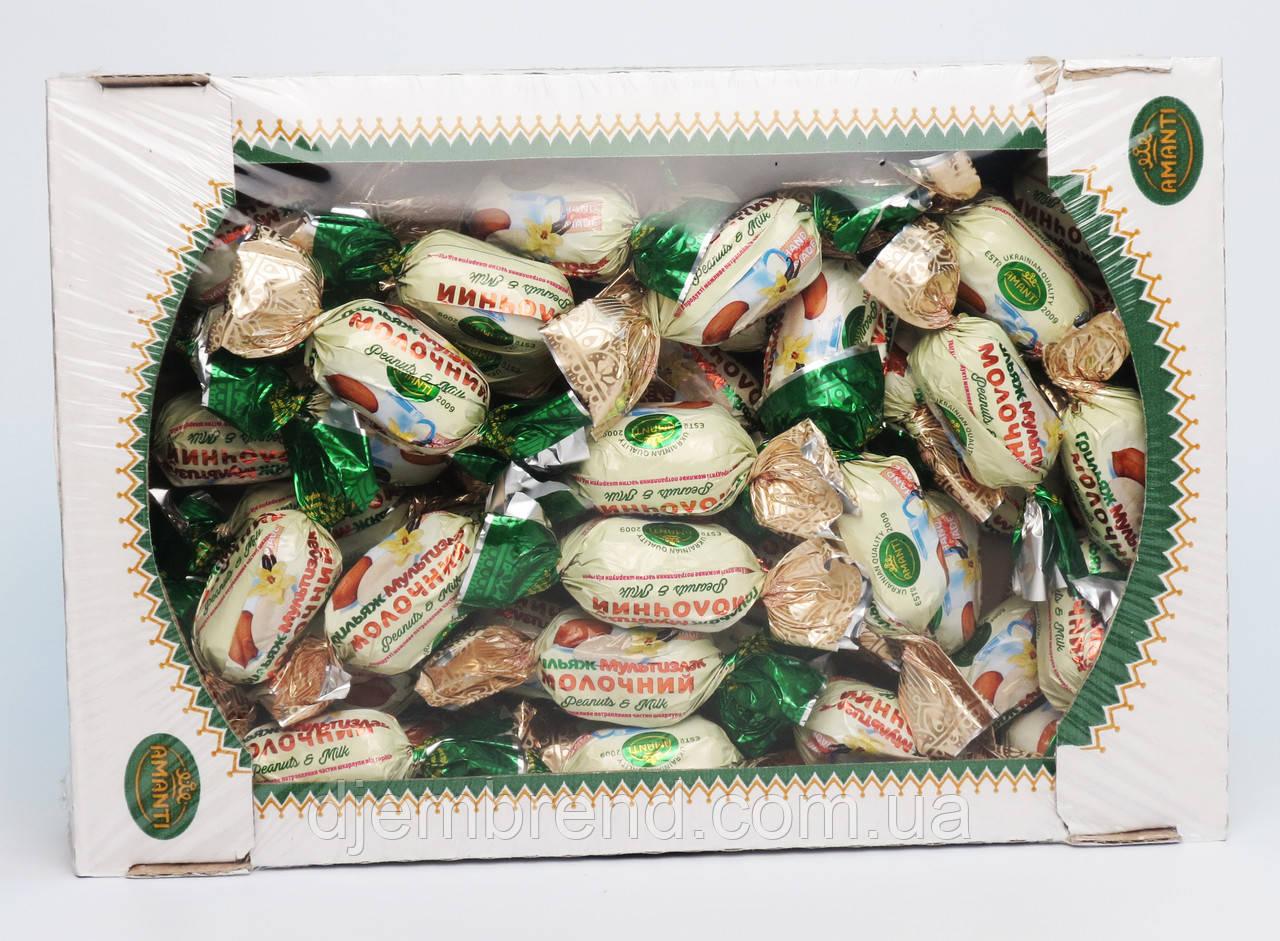 """Конфеты """"Грильяж Мультизлаковый молочный"""", Amanti, Украина, 1 кг."""