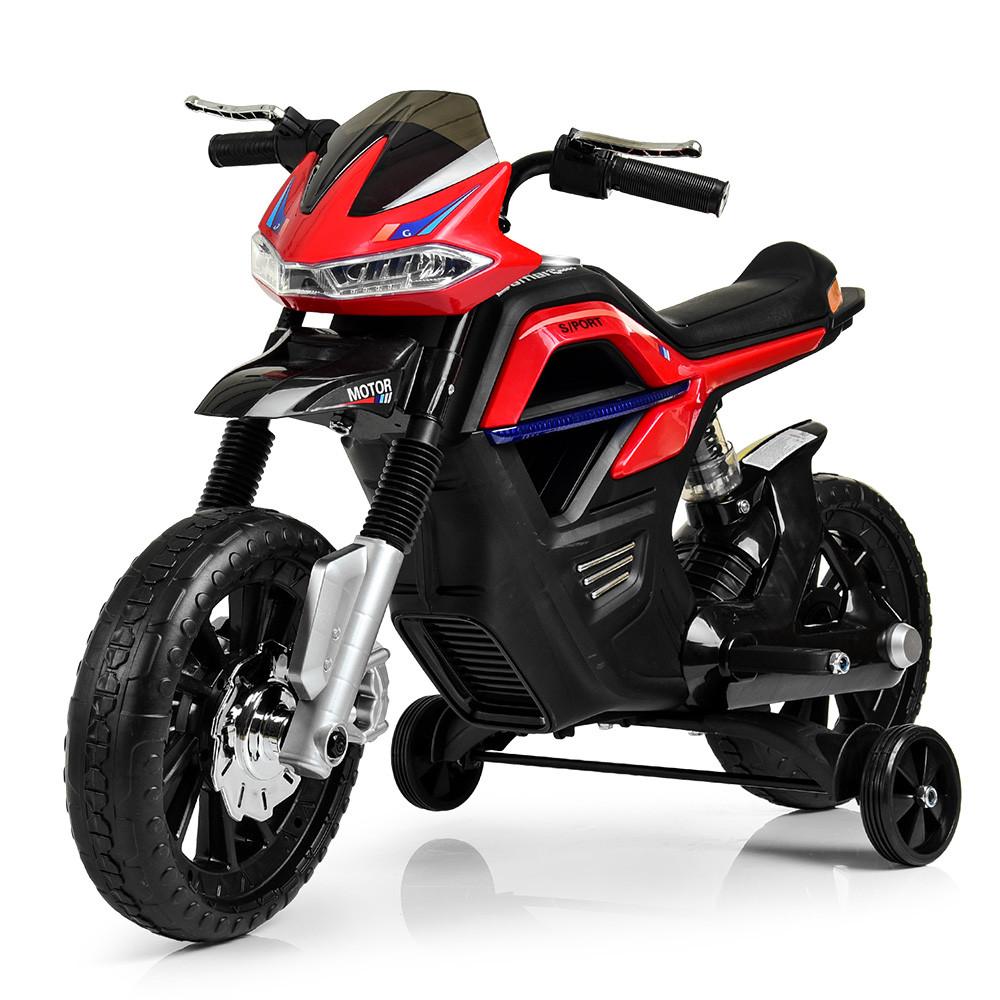 Детский мотоцикл Bambi JT5158-3 красный Гарантия качества Быстрая доставка