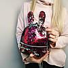 """Рюкзачок с паетками и ушками """"Зайка 2 Bright Pink"""""""