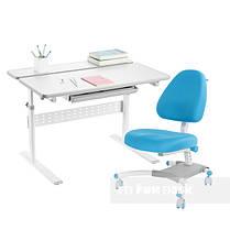 Комплект парта Colore Grey + подростковое кресло для дома Ottimo Blue FunDesk, фото 3