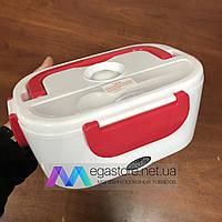 Электрический термо ланч-бокс Electronic Lunchbox контейнер для еды с подогревом 40 Вт красный