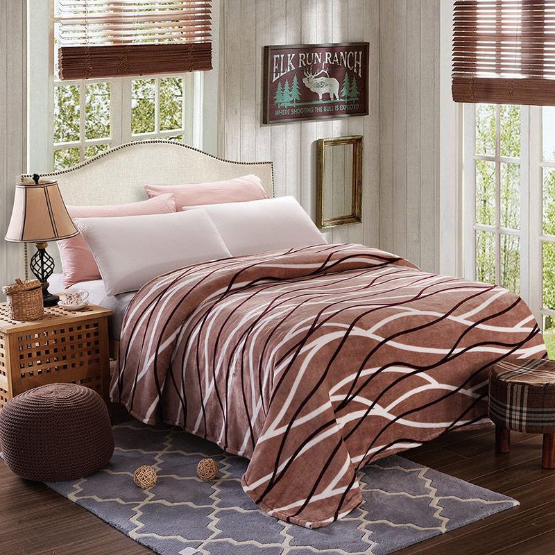 Плед покрывало 200х220 велсофт Капучино на кровать, диван