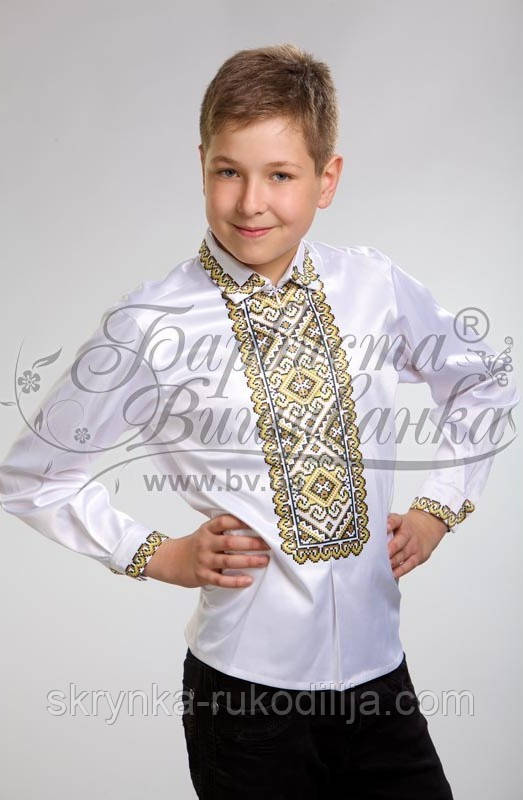 Заготовка для вишивки сорочки для хлопчика на натуральній тканині ... 816e3858f0c31