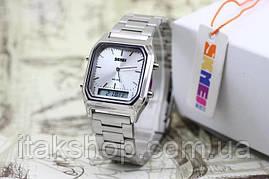Мужские наручные часы Skmei 1220 Tango Серебристые, фото 3