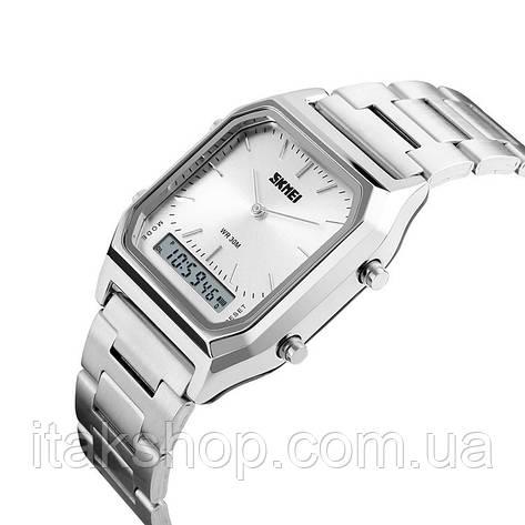 Мужские наручные часы Skmei 1220 Tango Серебристые, фото 2