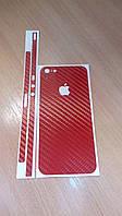 Декоративная защитная пленка на Iphone 5 - красный карбон