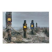 Картина подсветкой  фонарик 60 см 107769