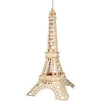 3D Деревянный конструктор. Модель Эйфелева башня, 3D Дерев'яний конструктор. Модель Ейфелева вежа