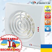 Вентс Квайт 100 Т с таймером бесшумный вентилятор (VENTS 100 Quiet T), фото 1