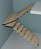 Лестница на центральной несущей (монокосоуре) в картиру, дом, котедж, таун-хаус, фото 7