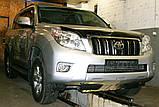 Декоративно-защитная сетка радиатора Toyota Land Cruiser Prado 150 фальшрадиаторная решетка, бампер, фото 5
