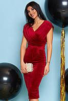 Женское велюровое коктейльное платье (Лилияjd)