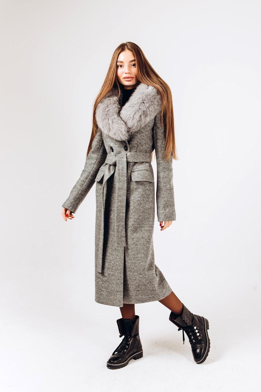 Длинное зимнее пальто с мехом O.Z.Z.E Д 309
