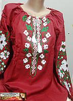 Вышиванка рубашка блуза лен  L, XL