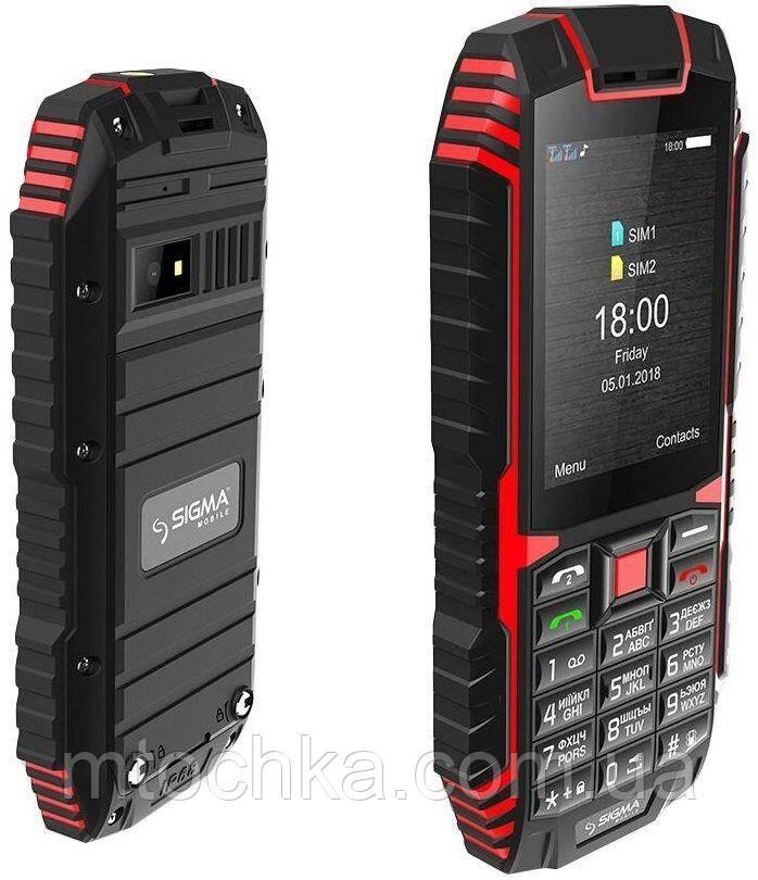 Мобильный телефон Sigma mobile X-treme DT68 Black-Red (официальная гарантия)
