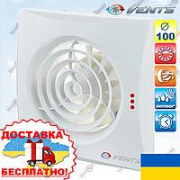Вентилятор в ванную Вентс 100 Квайт ТН с датчиком влажности (VENTS 100 Quiet TH), фото 1