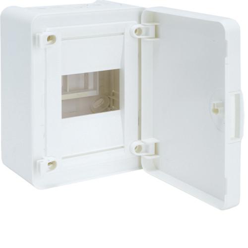 Щит наружной установки 4 мод. GOLF Hager с белыми дверцами (VS104PD)