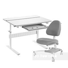 Комплект парта Colore Grey + подростковое кресло для дома Ottimo Grey FunDesk