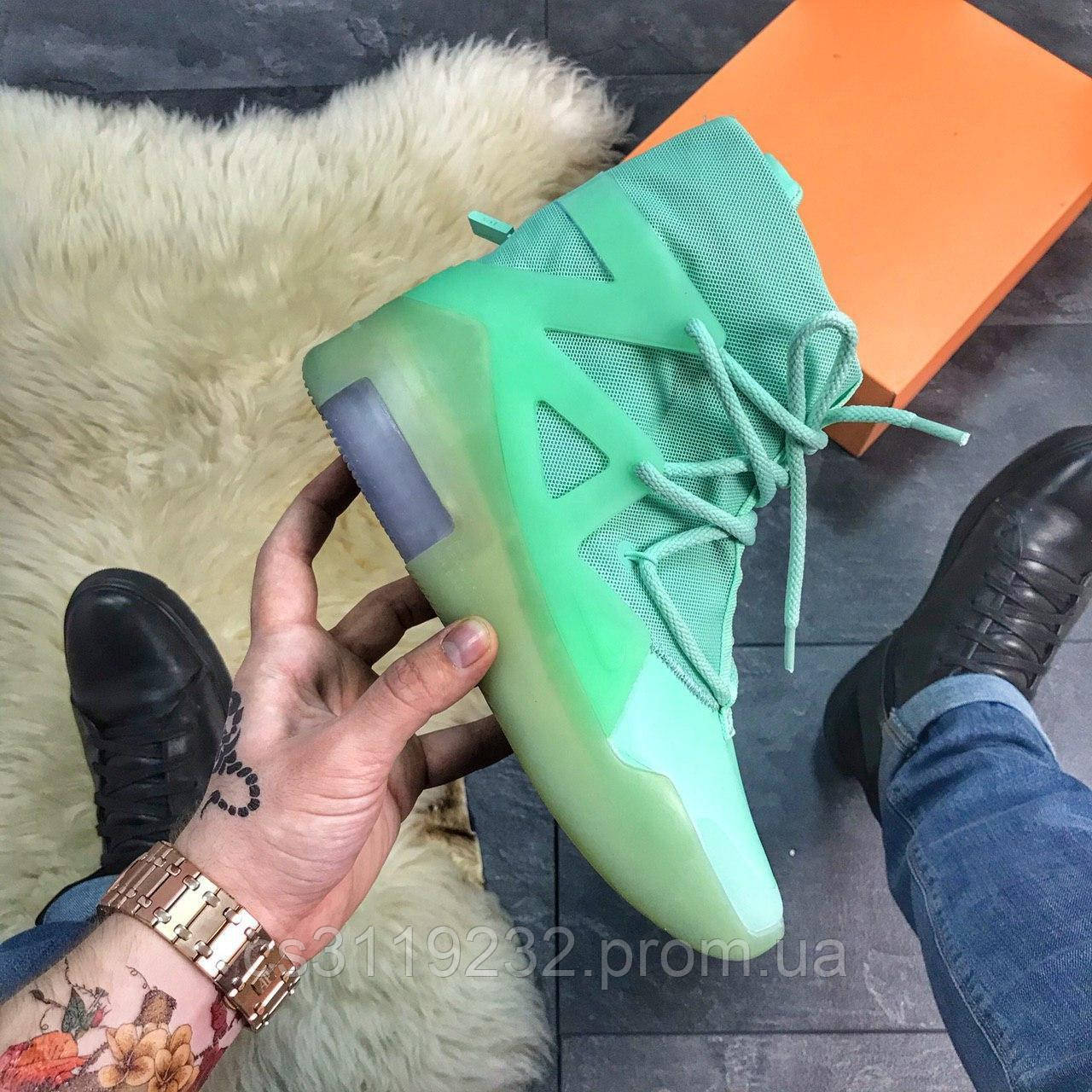Мужские кроссовки Nike Air Fear Of God Frosted Spruce (зеленые)