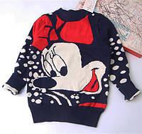 Детский свитер на девочку Микки Маус