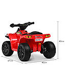 Дитячий електромобіль Квадроцикл M 4207 EL-1, колеса EVA, шкіряне сидіння, музика, білий, фото 2