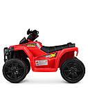Дитячий електромобіль Квадроцикл M 4207 EL-1, колеса EVA, шкіряне сидіння, музика, білий, фото 4