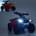 Дитячий електромобіль Квадроцикл M 4207 EL-1, колеса EVA, шкіряне сидіння, музика, білий, фото 5