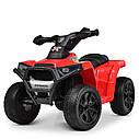 Дитячий електромобіль Квадроцикл M 4207 EL-1, колеса EVA, шкіряне сидіння, музика, білий, фото 7