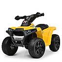 Дитячий електромобіль Квадроцикл M 4207 EL-1, колеса EVA, шкіряне сидіння, музика, білий, фото 9