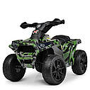 Дитячий електромобіль Квадроцикл M 4207 EL-1, колеса EVA, шкіряне сидіння, музика, білий, фото 10