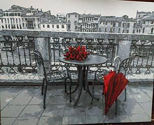 Картина за номерами Розы и зонт gx4178 у виконанні Гордій Марії 1