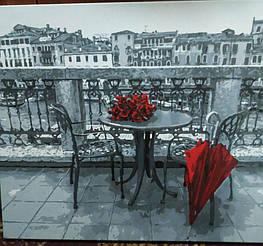 Картина за номерами Розы и зонт gx4178 у виконанні Гордій Марії 2