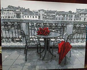 Картина за номерами Розы и зонт gx4178 у виконанні Гордій Марії 3