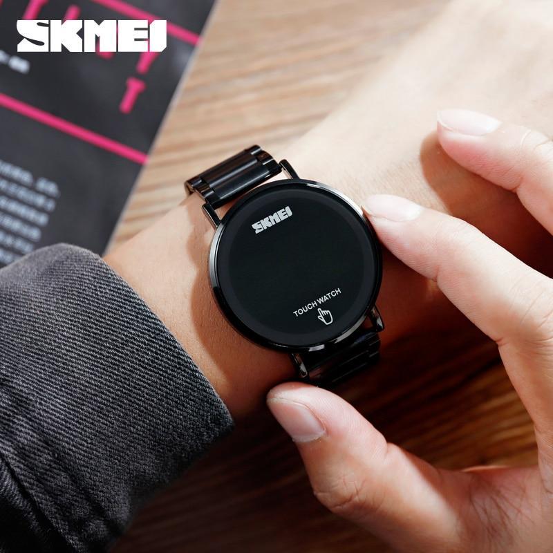 Skmei 1550 light  черные мужские оригинальные часы