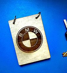 Блокнот з дерева А6 БМВ, BMW (на кільцях)