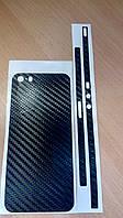 Декоративная защитная пленка на Iphone 5S - черный карбон 3D