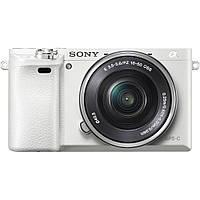 Беззеркальный фотоаппарат Sony Alpha A6000 kit (16-50mm) White